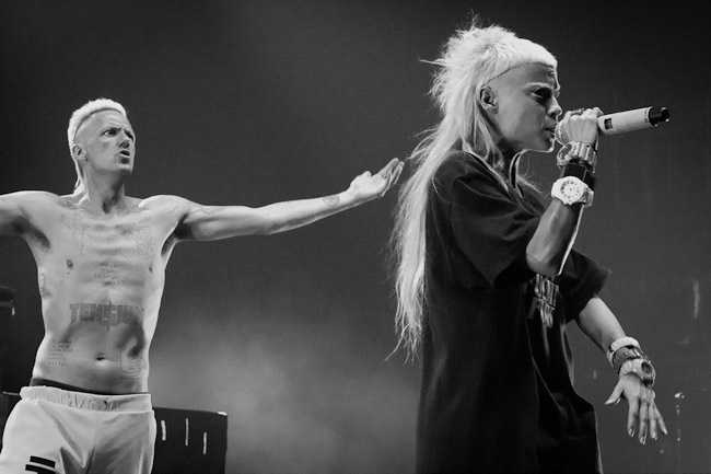 Yo-Landi Vi$$er of Die Antwoord performs at Brixton Academy 22/06/2013