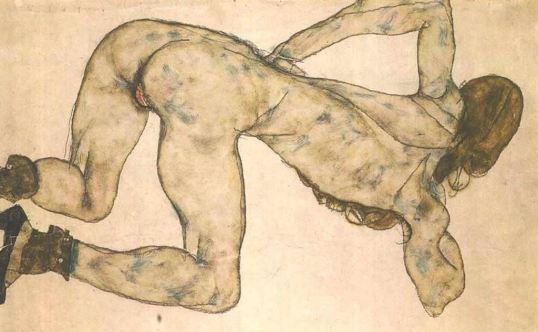 egon-schiele-bended-female-nude